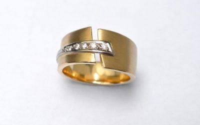 7642--Ring-585-Gelbgoldring-m-Weißgold-u-Brill